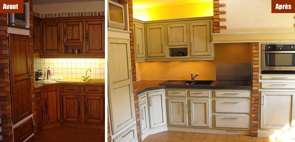Rénovation d'un mobilier de cuisine aménagée par Mobilier du Lac